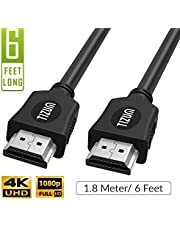 TIZUM High Speed HDMI Cable with Ethernet - Supports 3D, 4K and Audio Return (1.8 Meter/ 6 Feet)