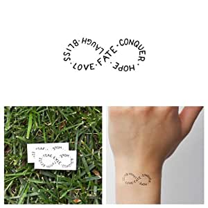 Repeat : Tattify Typography Temporary Tattoo - Repeat (Set of 2) - Other Styles Available and Fashionable Temporary Tattoos - Tattoos that are Long Lasting and Waterproof