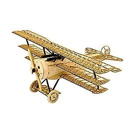 Goolsky Dancing Wings Hobby VX11 1/18 Fokker DRI in legno statico modello di aeroplano Display Replica Craft legno Arredamento regalo per bambini e adulti