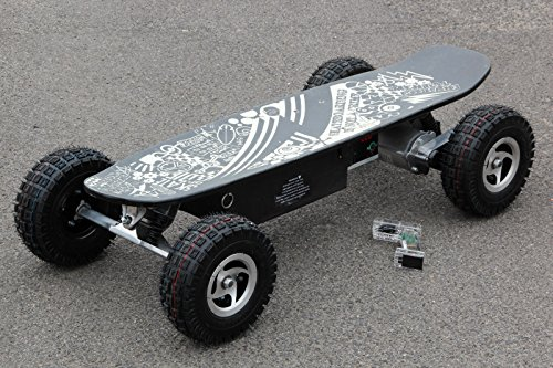 ELEKTRO SKATEBOARD OFF ROAD SCOOTER BIKE BOARD 800WATT 14AH 32KM/H NEU (Schwarz)