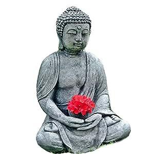 Steinfigur gartenfigur buddha gartenfigur steinguss for Steinfigur buddha garten