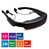 Excelvan Hot 72' Occhiali 2D Glasses Schermo Virtuale Digital Video Portatili Stereo 2D Theater Personal TV Glasses for XBOX/PSP immagine