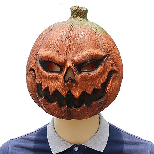 Gshy Halloween Maske Kürbiskopf Latex für Halloween Kostüm Dekoration Haunted House Maskerade Party Cosplay Requisiten