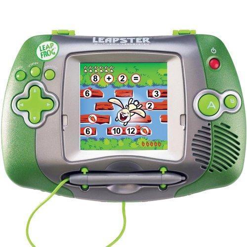 Kindercomputer Leapster Leap Frog Multimedia Lernsystem 4-10Jahre mit 3 Spielen Grün
