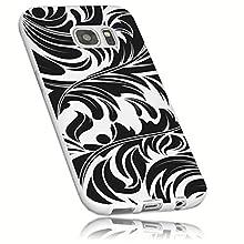 Mumbi Coque de protection pour Samsung Galaxy S7 Motif feuille Blanc transparent