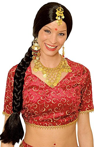 Panelize Bollywood Haremsdame Bauchtanz Orient 1001 Nacht Bollywoodperücke + Schmuck