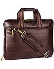 "Aircase C53 Vegan Leather 13.3"" Multifunction Laptop Bag (Brown)"