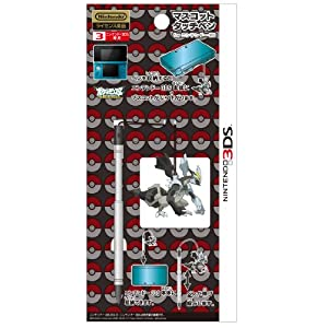 DS 3DS Pokemon Best Wishes Mascot Touch Pen-Black Kyurem-3079