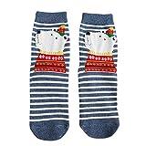 LHWY Weihnachtsstrümpfe für Damen Frauen Männer Socken Gelegenheitsarbeit Weihnachten Elch Animal Print Baumwollsocke Komfortabel (E)