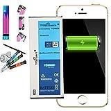 Trop Saint® Akku für iPhone 5S - 1560mAh/3,8V mit Werkzeug und Sticker