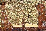 Poster Klimt Der Baum des Lebens - Größe 91,5 x 61 cm - Maxiposter