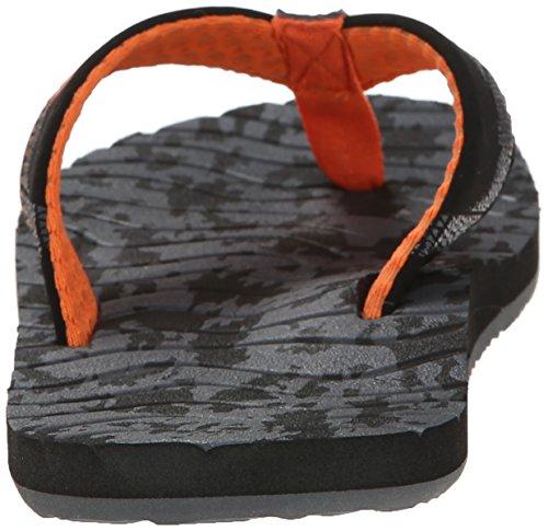 Reef - Roundhouse Imprime Sandales pour hommes - Black/Orange Camo