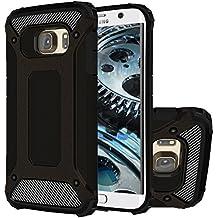 Galaxy S6 Edge+ Funda, HICASER Híbrida Case [Heavy Duty] Rugged Armor Cover, Dual Layer Shock Resistant Carcasa para Samsung Galaxy S6 Edge Plus Negro