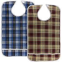 B Baosity 2 Stück Wasserdichtes Lätzchen für Erwachsene Ältere oder Behinderte Essen Hilfe Schürze preisvergleich bei billige-tabletten.eu