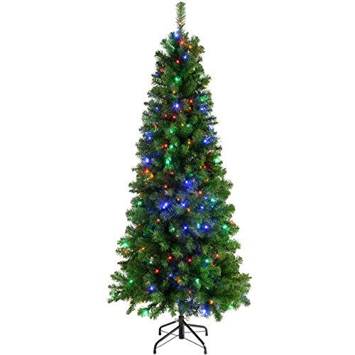 werchristmas-pre-lit-slim-christmas-tree-with-200-led-lights-6-feet-multi-coloured