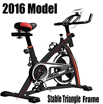 Progen New Heavy Duty Spin 18kg Flywheel Aerobic Training Bike Exercise Bike Fitness Bike Home Fitness Gym Led Monitor (free Water Bottle Included) from PROGEN