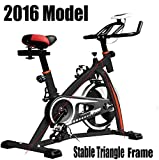 PROGEN NEW HEAVY DUTY SPIN 18KG FLYWHEEL AEROBIC TRAINING BIKE EXERCISE BIKE FITNESS BIKE HOME FITNESS GYM LED MONITOR (FREE WATER BOTTLE INCLUDED)