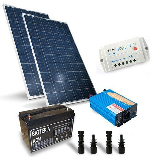 Photovoltaik Kits 400W 12V Base Laderegler Wechselrichter 2000W Batterie 160Ah - 400w Kit