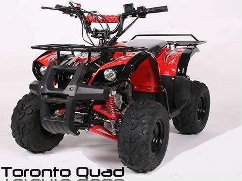"Toronto 125cc RG 7"" Automatik + RG | MIDI QUAD (Schwarz)"