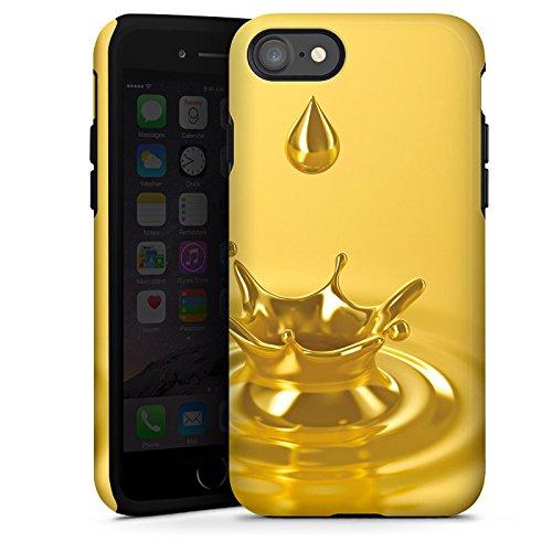 Apple iPhone X Silikon Hülle Case Schutzhülle Tropfen Gold Krone Tough Case glänzend