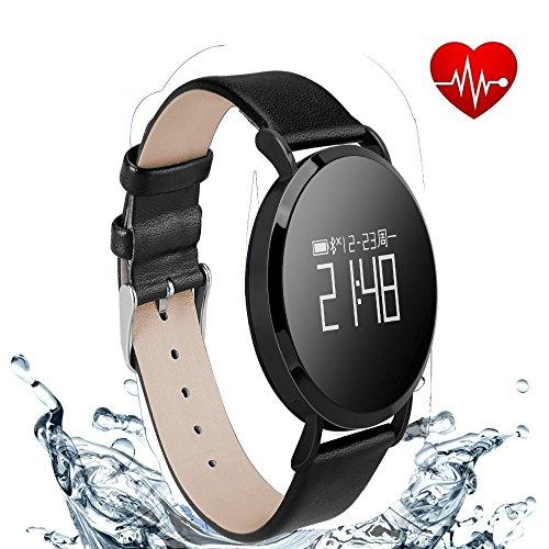 Hangang Fitness Tracker Smart Armband mit Bluetooth Call Erinnern,Schrittzähler, Schlaf-Monitor, Pulsmesser -