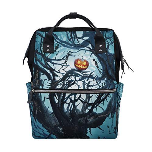 Halloween Kürbis Spuk Baum Nacht Große Kapazität Windel Taschen Mummy Rucksack Multi Funktionen Wickeltasche Tasche Handtasche Für Kinder Baby Care Travel Täglichen Frauen