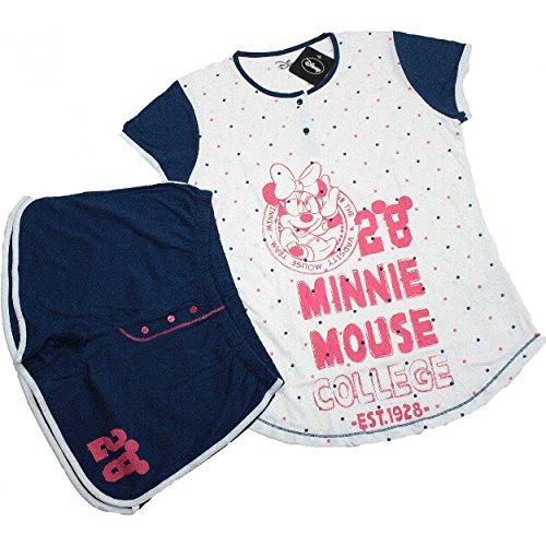 Pigiama Tuta Donna Disney Minnie CORTO Tg 3/M/44 cotone Jersey Marine 20417