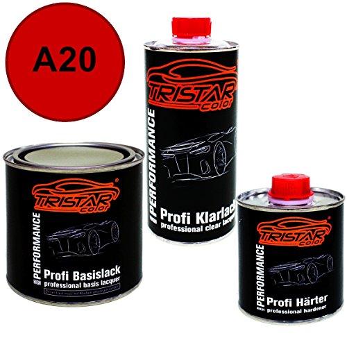 Preisvergleich Produktbild 1,25 Liter 2K Lack Set DATSUN / INFINITI / NISSAN A20 SCARLET RED 1 / RED ALERT 1 ab 2005 - Profi Autolack spritzfertig & Klarlack & Härter