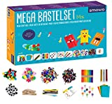Smowo Mega Bastelset Starterset - Bastelbox Mix - mit kreativen Bastelideen - Bunte Bastelbedarf Box für Mädchen und Jungs