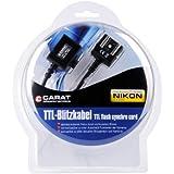 Carat Electronics TTL Câble flash pour FC-1 Nikon/Nikon D7100/D5200/D600/D3200/D800/D800E/D5100/D3100/D7000/D300S/Coolpix A