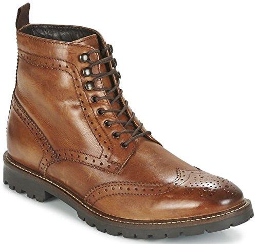 Base London Troop Tan Hommes Mid Cheville Cuir Hi Chaussures