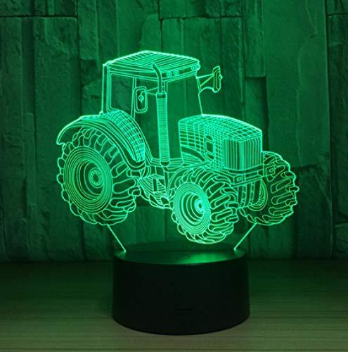 Joplc Ackerschlepper 3D LED Lampe Deko Licht Automobil Form USB Lade Touch Schalter Lampe Kinder Nachtlicht Für Neujahr Geschenk 59