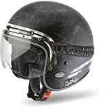 Airoh GARA35M Garage Raw Open Face Motorcycle Helmet M Matt Black
