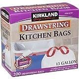 Kirkland Signature X-Large Drawstring Kitchen Trash Bags - Pack of 200