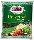 Substral Grünkorn Universaldünger, Hochwertiger, nitratfreier Gartendünger für Blumen, Sträucher, Koniferen, Gemüse, Obst und Rasen mit langanhaltender Wirkung - 3 kg Sack