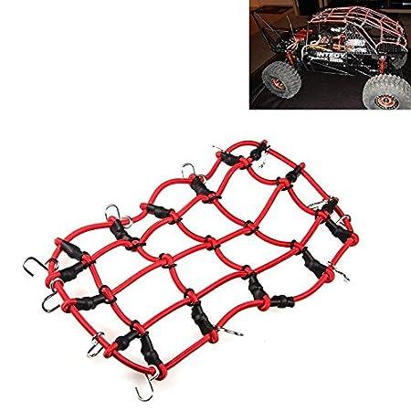 XUNJIAJIE 1 Stück 1:10 RC Elastisch Gepäcknetz mit Haken für 1/10 Crawler Auto Axial SCX10 Dachträger