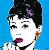 Viana, Tomas - Lips II - Kunstdruck Artprint Gemälde Pop-Art Audrey Hepburn Film Kino Movie 30x30 cm