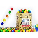 koenig-tom - Pelotas para piscina de bolas (200 unidades, plástico, certificadas