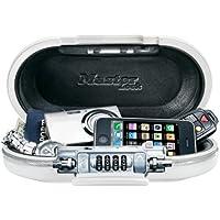 Master Lock 5900EURDWHT - Caja de seguridad (ABS, 50 cm x 5 mm, candado para equipaje) color blanco