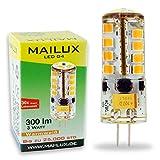 MAILUX LED G4S11059 | G4 | Stift | 3W | 300lm | 3000K | 27 SMD | dimmbar | warmweiss
