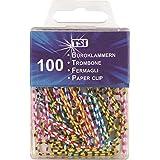 Papel ETI Clips 32MM Paquete de 100 rayas multicolor