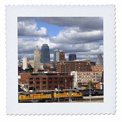 3dRose QS 91527_ 2bei Union Station Kansas City, Missouri US26dfr0134David R Frazier Quilt Platz, 6von 15,2cm -