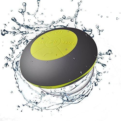 Neuftech Impermeable Altavoz Bluetooth 4.2 para Ducha, Altavoces estéreo para iPhone,Samsung,Huawei, Xiaomi ect(Gris + Verde)