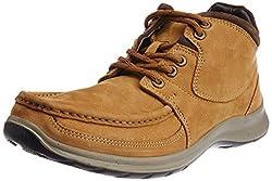 Woodland Mens Camel Leather Boots - 10 UK/India (44 EU)