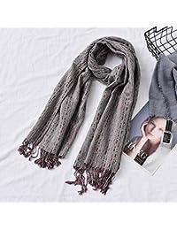 GO FL Écharpe à Pompons pour Femme Printemps et Automne Hiver Style Sauvage  Chaud Grand Châle Femme 57c07c69d58