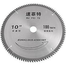 100 dientes 250 mm de diámetro exterior de corte aleación de hoja para sierra Circular de aluminio