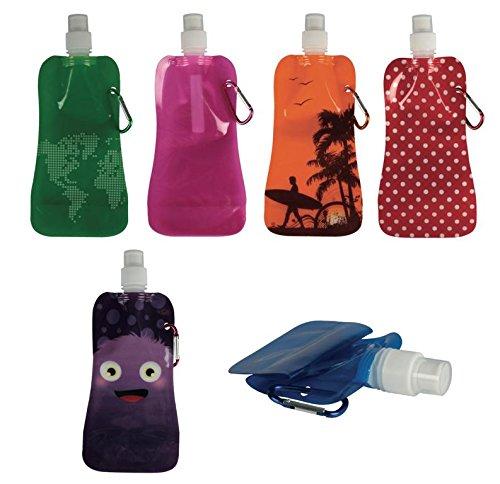 6x faltbare Trinkflasche Wasserflasche Fahradflasche Sportflasche