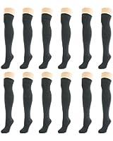 Damen Einfarbige Socken Overknee Kniestrümpfe Über Knie Strümpfe (3 Paar)