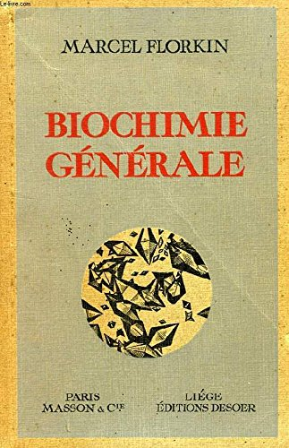 INTRODUCTION A LA BIOCHIMIE GENERALE