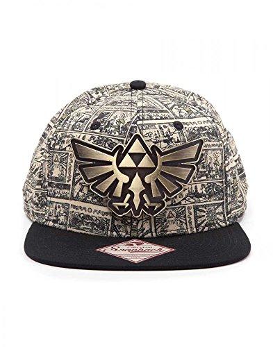 Preisvergleich Produktbild Zelda Storyboard Cap / Grau / Schwarz / Metall Logo / Original Ware / 80% Acryl 20% Baumwolle / Unisex Damen Herren